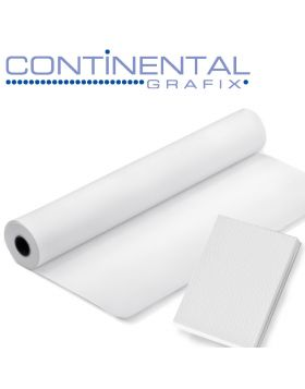 """Continental Grafix 54"""" x 100' Non-Adhesive panoRama Screen - woven polyester screen, with bright white front side and black reverse side. Printable with Solvent, Eco-Solvent & UV-Curable inks.  Removable liner for screen doors, porches, roll-up blinds"""