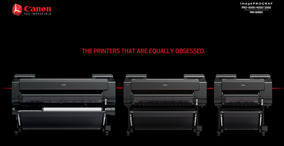 canon imageprograf pro 2000 printer description showing it with pro-4000 and pro-6000