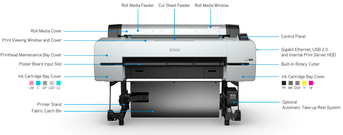 epson surecolor p10000 printer with features