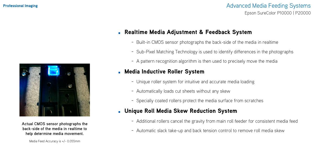 epson surecolor p10000 printer realtime media feed adjustment cmos sensor no skew