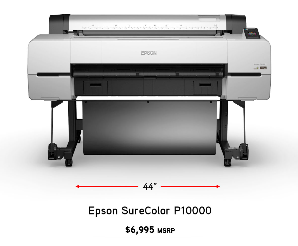 epson surecolor p10000 printer printable width size