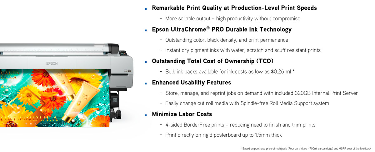 epson surecolor p20000 printer control reason to buy features print quality durable ink tco usability