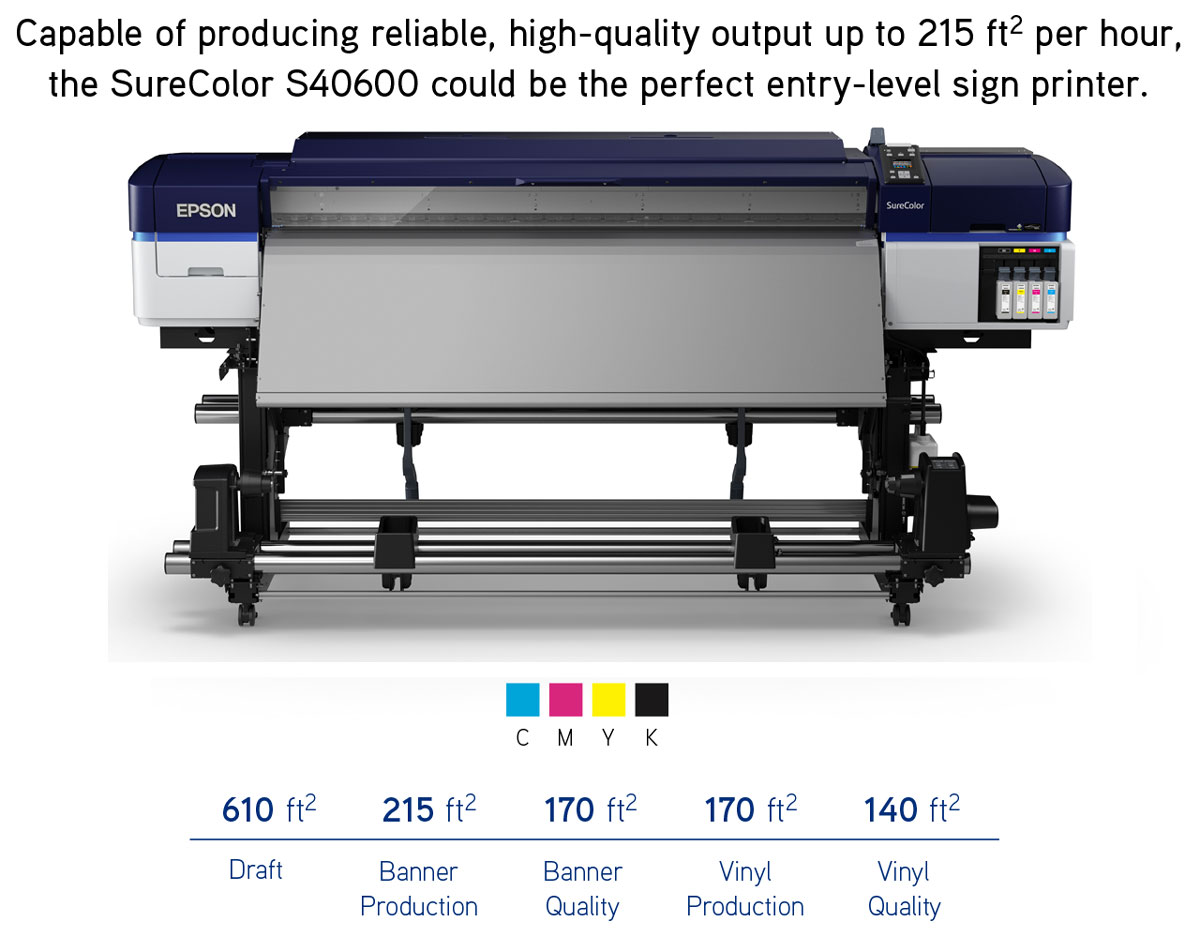epson surecolor s40600 printer showing print speeds at different pass and quality modes