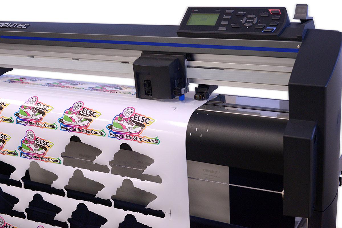 epson surecolor s60600 print cut edition showing graphtec fc8600-130 cutter with vinyl
