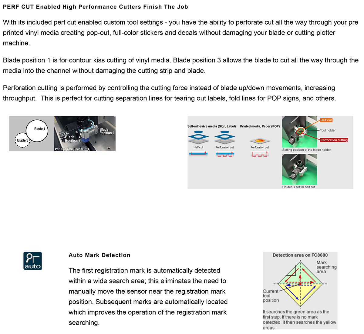 epson surecolor s80600 print cut edition showing graphtec fc8600 cutter features
